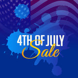 4th of July. Illustrator of a background for 4th of July Stock Images