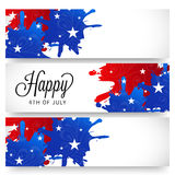 4th of July. Illustrator of a background for 4th of July Stock Photography