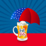 4th of July. Illustrator of a background for 4th of July Royalty Free Stock Photo