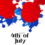4th of July. Illustrator of a background for 4th of July Stock Image