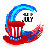 4th of July. Illustrator of a background for 4th of July Stock Photo