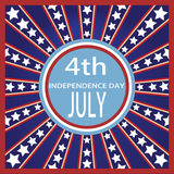 4th of July independence badge Royalty Free Stock Photo