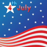 4th July Independence day. Abstract 4th July America Independence day background Stock Photography