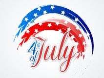 4th of July celebration background. 4th of July, Independence Day abstract background with American Flag color brush strokes royalty free illustration