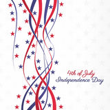 4th of July. 4th july independence day abstract background with ribbons and stars Royalty Free Stock Images