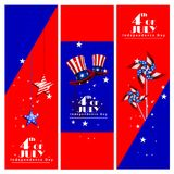 4th of July Independence Day of America background. Easy to edit vector illustration of 4th of July Independence Day of America background stock illustration
