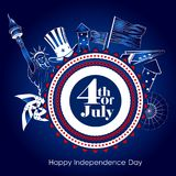 4th of July Independence Day of America background. Easy to edit vector illustration of 4th of July Independence Day of America background royalty free illustration