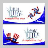 4th July, Independence day of America. Easy to edit vector illustration of 4th July, Independence day of America Royalty Free Stock Photos