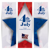 4th July, Independence day of America. Easy to edit vector illustration of 4th July, Independence day of America Stock Images