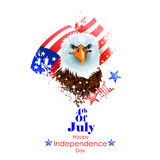 4th July, Independence day of America. Easy to edit vector illustration of 4th July, Independence day of America Royalty Free Stock Photography