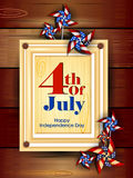 4th July, Independence day of America. Easy to edit vector illustration of 4th July, Independence day of America Royalty Free Stock Photo