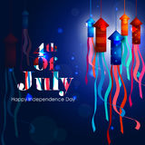 4th July, Independence day of America. Easy to edit vector illustration of 4th July, Independence day of America Stock Photos