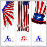 4th July, Independence day of America. Easy to edit vector illustration of 4th July, Independence day of America royalty free illustration