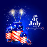 4th July, Independence day of America. Easy to edit vector illustration of 4th July, Independence day of America Royalty Free Stock Image