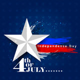 4th July, Independence day of America. Easy to edit vector illustration of 4th July, Independence day of America Stock Photography