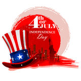 4th July, Independence day of America. Easy to edit vector illustration of 4th July, Independence day of America Stock Photo