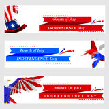 4th July, Independence day of America. Easy to edit vector illustration of 4th July, Independence day of America Stock Image