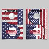 4th July Independence day background design. National day USA ho. Liday banner poster greeting card. Stars and stripes american flag.Book Cover Layout Design Royalty Free Stock Photography