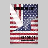 4th July Independence day background design. National day USA ho. Liday banner poster greeting card. Stars and stripes american flag.Book Cover Layout Design Royalty Free Stock Image