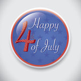 4th of July independence day background. Happy 4th of July, independence day background on a beautiful Pin/Button Badge Royalty Free Stock Image