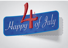 4th of July independence day background. Happy 4th of July, independence day background with 3d paper effect Stock Illustration