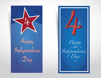 4th of July independence day background. Happy 4th of July, independence day background with 3d paper effect Royalty Free Illustration