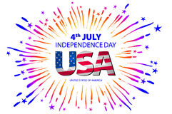 4th of July independence day background. Independence day concept. 4th July independence day with fireworks background. vector Stock Photography