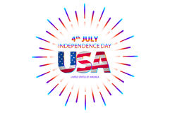 4th of July independence day background. Independence day concept. 4th July independence day with fireworks background. vector. Art stock illustration
