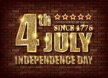4th of July independence day background. July 4th, Memorial Day, Independence day. Perfect for invitations or announcements. Vector illustration Royalty Free Stock Images