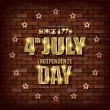 4th of July independence day background. July 4th, Memorial Day, Independence day. Perfect for invitations or announcements. Vector illustration Royalty Free Stock Photography