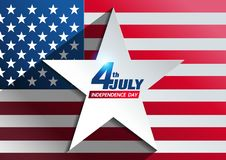 4th july independence day background vector illustration
