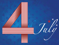 4th of July independence day background. With typography design stock illustration