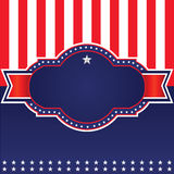 4th of July, independence day ,badge Stock Photo