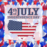 4th of july independence day balloon background. A 4th of july independence day balloon background Royalty Free Stock Photos