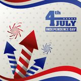 4th july independence day card event happy decoration. Vector illustration royalty free illustration