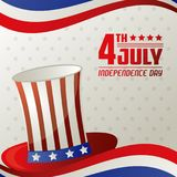 4th july independence day card memorial celebration. Vector illustration royalty free illustration