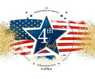 4th July Independence Day card. With the star Stock Illustration