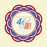 4th of July celebration background. 4th of July, Independence Day celebration background in American Flag colors Vector Illustration
