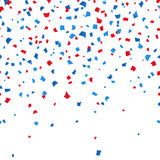 4th of July - Independence day celebration confetti background. vector illusctration. 4th of July - Independence day celebration background. Blue and red Vector Illustration