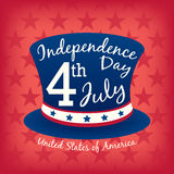 4th of july Independence day celebration hat background. 4th of july Independence day celebration hat vector background Stock Photo