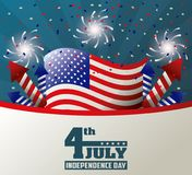 4th july independence day celebration patriotic party. Vector illustration Stock Image