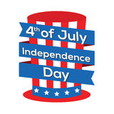 4th of July Independence Day. Concept Illustration Stock Images