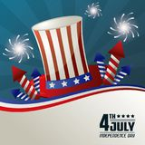 4th july independence day festive national american. Vector illustration Stock Photography