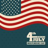 4th july independence day flag united states of america. Vector illustration Royalty Free Stock Photo