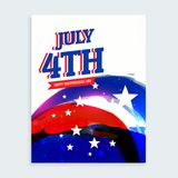 4th of july independence day flyer Stock Photography