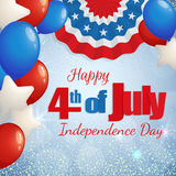 4th of July - Independence Day greeting card Royalty Free Stock Photography