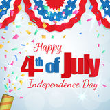 4th of July - Independence Day greeting card Royalty Free Stock Images