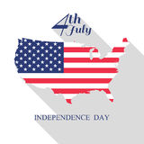 4th of July, independence day . Happy independence day with Bunt. Ing Flag Stock Images