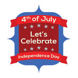 4th of July Independence Day. Illustration Royalty Free Illustration