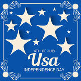 4th of July independence day. Illustration of a Banner for 4th of July independence day Royalty Free Stock Images